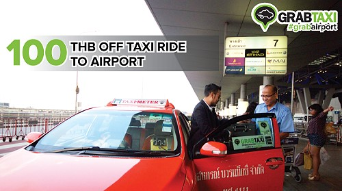Promo Code for 100 Baht Discount with GrabTaxi to the