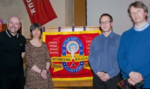 L to R: Chris Hall, Mary Vincent, Richard Baxell and Tom Buchanan © Creative Commons, BY-NC-SA 3.0, IBMT and Marshall Mateer