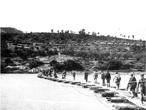 Republican troops crossing the River Ebro in July 1938