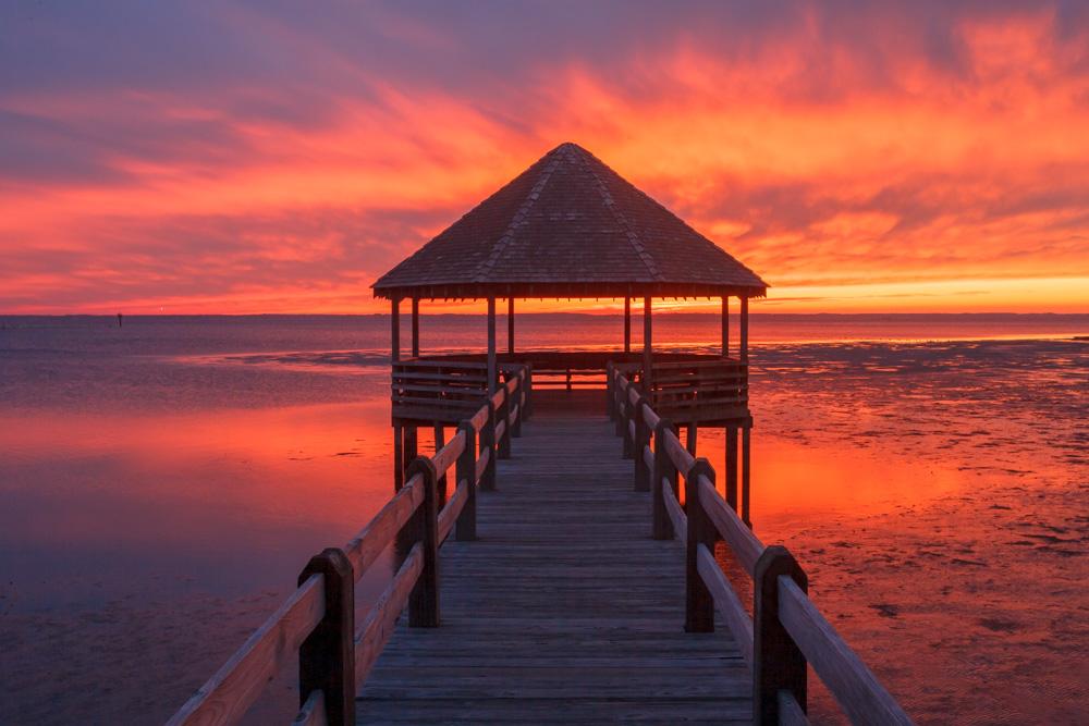 Sunset over the Currituck Sound, Whalehead Club, North Carolina