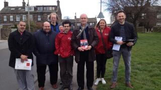 Campaigning in Yeadon