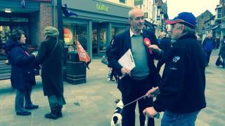 Talking to voters in Beverley