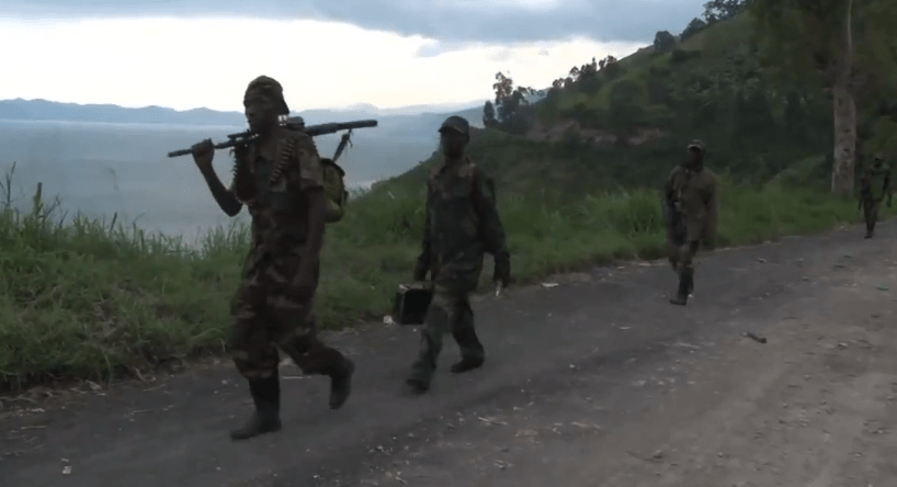 Soldiers in Goma, DRC