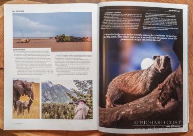 Wildlife photography magazine article, Richard Costin