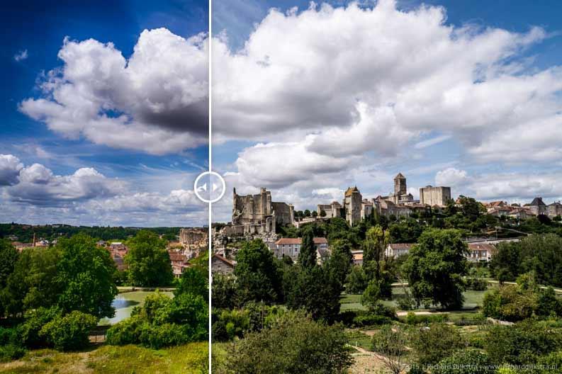 HDR foto Chauvigny: weer een nieuwe bewerking op een oude foto