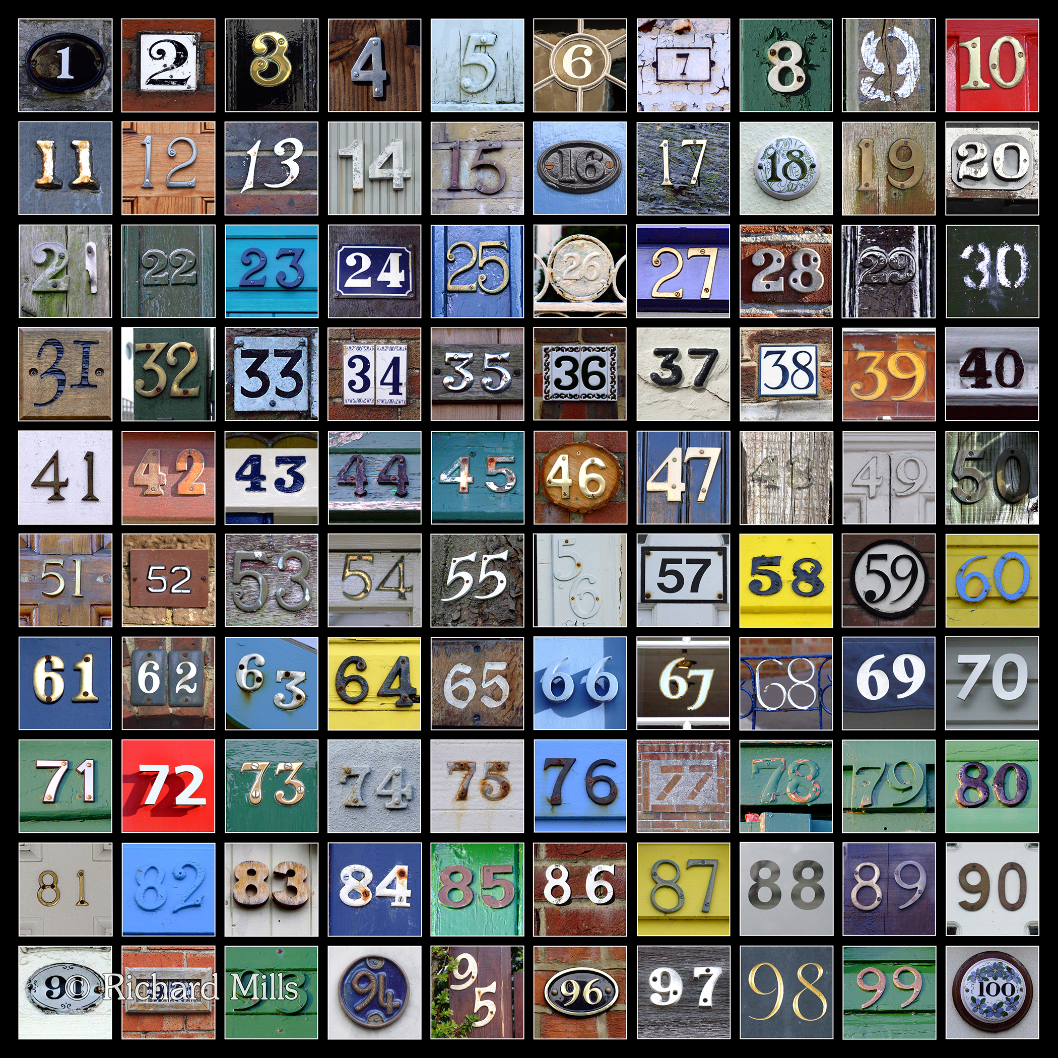 1-100 Number Square
