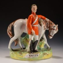 ANTIQUE STAFFORDSHIRE FIGURE OF NAPIER