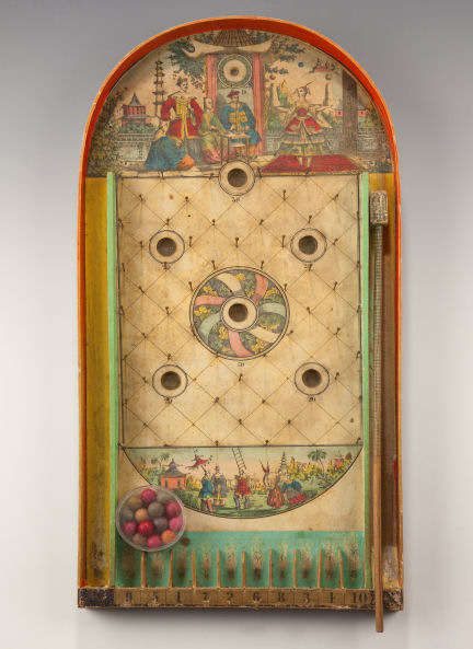 ANTIQUE VICTORIAN BAGATELLE GAME IN ORIGINAL BOX