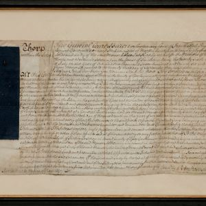 ANTIQUE FRAMED LEGAL DOCUMENT