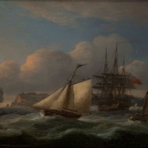 THOMAS LUNY-OIL PAINTING-TORBAY & BERRY HEAD