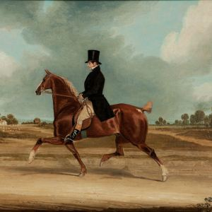 JAMES POLLARD-OIL PAINTING-HORSE & RIDER