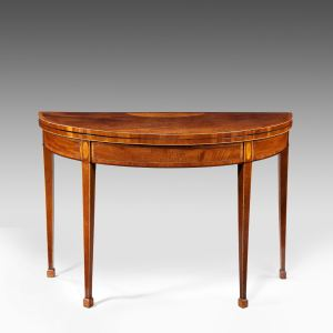 ANTIQUE GEORGE III MAHOGANY CONSOLE/CARD TABLE