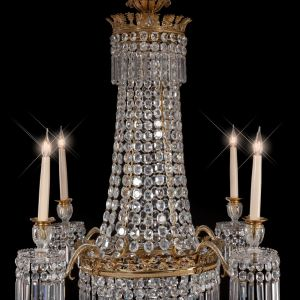 ANTIQUE REGENCY CHANDELIER ATTRIBUTED TO JOHN BLADES