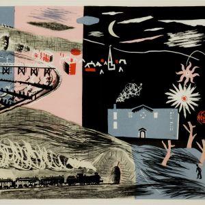 JOHN EGERTON CHRISTMAS PIPER-LITHOGRAPH-NURSERY FRIEZE