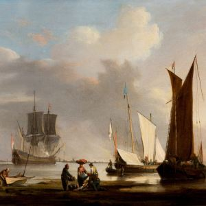 ENGLISH SCHOOL (IN THE STYLE OF WILLIAM ANDERSON)-OIL PAINTING-SHIPS