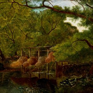 EDWIN HENRY BODDINGTON-OIL PAINTING-RIVER LANDSCAPE