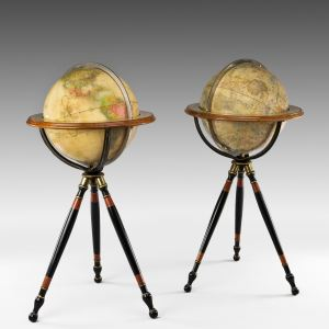 ANTIQUE FINE PAIR OF TERRESTRIAL AND CELESTIAL GLOBES BY JOSLIN