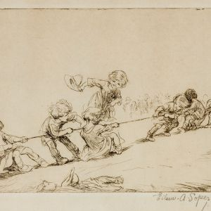 EILEEN SOPER-ETCHING-TUG OF WAR