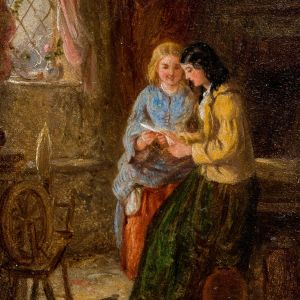 FREDERICK DANIEL HARDY- OIL PAINTING-LOVE LETTER