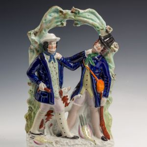 ANTIQUE STAFFORDSHIRE FIGURE OF SMITH & COLLIER