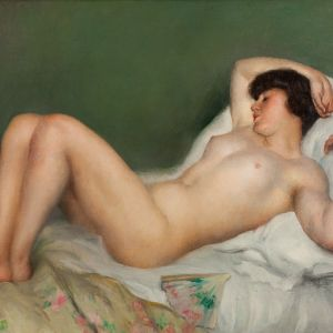 LEON LAURENT GALAND-OIL PAINTING-FEMALE NUDE
