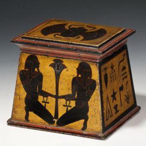 ANTIQUE EGYPTIAN STYLE TEA CADDY