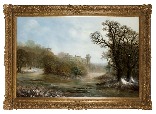Charles-Leaver-oil-painting-warwick-Castle-antique-4982_1_4982