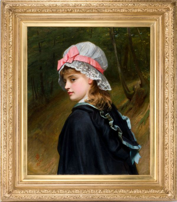 Charles-Sillem-Lidderdale-oil-painting-young-girl-antique-5096_1_5096