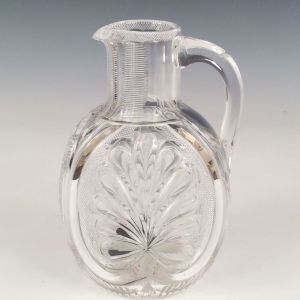 ANTIQUE GLASS CLARET JUG