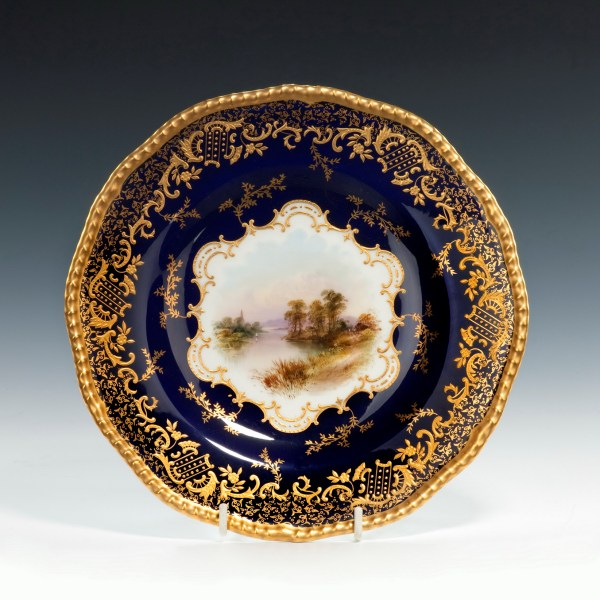 Coalport-porcelain-dessert-service-Scottish-Loch-Scenes-antique-image-214