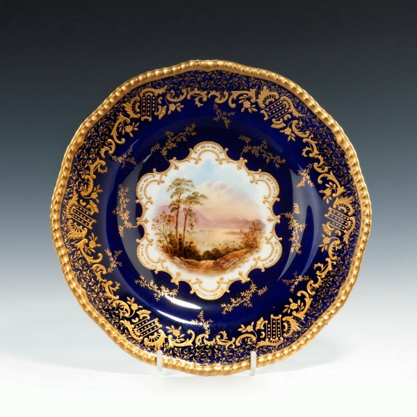 Coalport-porcelain-dessert-service-Scottish-Loch-Scenes-antique-image-216
