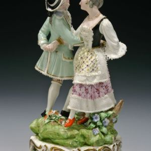 ANTIQUE BLOOR DERBY PORCELAIN DANCING FIGURE