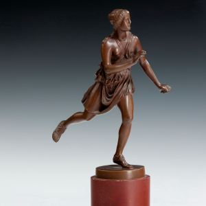 ANTIQUE GRAND TOUR BRONZE OF FEMALE ATHLETE