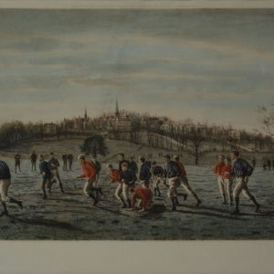 THOMAS M HENRY ENGRAVING FOOTBALL FIELDS HARROW