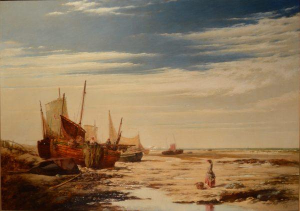 HENRY DAWSON-OIL PAINTING-MARINE COASTAL