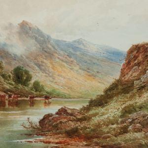 HENRY DEACON HILLIER WATERCOLOUR LOCH TRIOCHATAN SCOTLAND