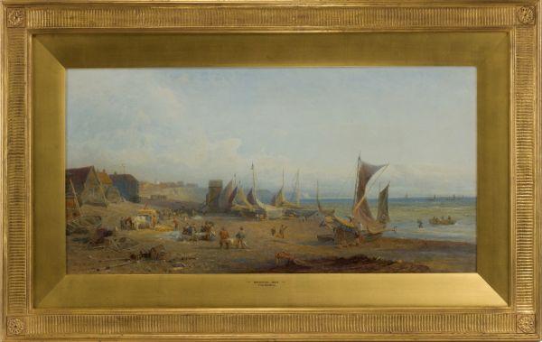 Henry-George-Hine-watercolour-brighton-beach-fish-market-antique-5482_1_5482