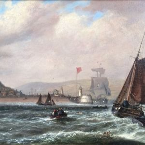 ISAAC WALTER JENNER OIL PAINTING MARINE NEWHAVEN