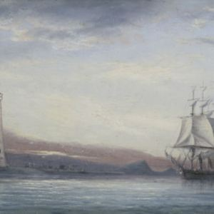ISAAC WALTER JENNER OIL PAINTING MARINE PLYMOUTH