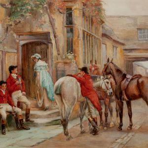 JOHN SANDERSON SANDERSON WELLS WATERCOLOUR HUNTING