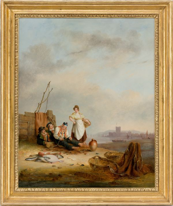 Nicholas-Condy-Senior-oil-painting-fisherfolk-Carrick-Fergus-antique-5051_1_5051