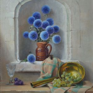 ROBERT CHAILLOUX-OIL PAINTING-STILL LIFE