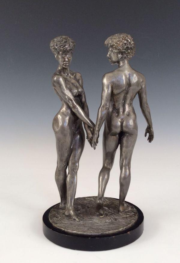 Ronald-Cameron-bronze-Twins-female-nude-figures-20th-century-5656_1_5656