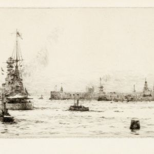 ROWLAND LANGMAID-ETCHING-FAIRWAY INTO PORTSMOUTH