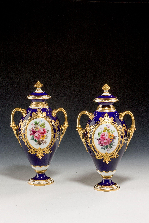 Antique pair royal crown derby vases richard gardner antiques antique pair royal crown derby vases reviewsmspy