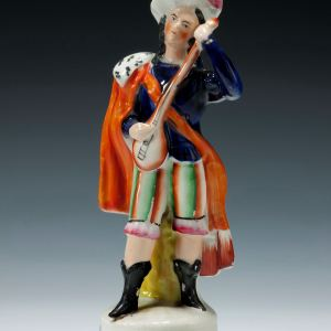 ANTIQUE STAFFORDSHIRE FIGURE OF FREDERICK McCADE