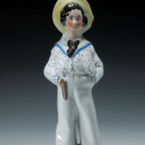 ANTIQUE STAFFORDSHIRE FIGURE OF THE PRINCE OF WALES