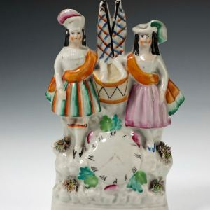 ANTIQUE STAFFORDSHIRE FIGURE OF A CHILDREN GROUP
