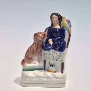 ANTIQUE STAFFORDSHIRE FIGURE OF A GIRL