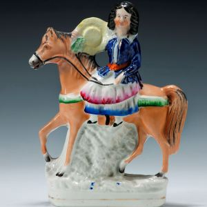 ANTIQUE STAFFORDSHIRE FIGURE POSSIBLY ROYAL PRINCESS